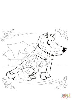 harry the dirty dog coloring sheet for kids | Literature activities ...