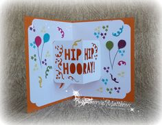 Fun Birthday Cards. Party with Cake stamp set, Party Pop-Up Thinlits dies and Party Punch Pack by Stampin' Up! Really cute and fun 3D cards