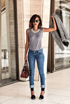 Trending Outfit Ideas Casual You Should Already Own outfit ideas casual, Mode - Style, Service, Core, Commerce Simple Casual Outfits, Style Casual, Casual Chic, Trendy Outfits, Outfits Fo, Work Casual, Jean Shirt Outfits, Semi Casual, Outfits 2016
