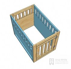 Most up-to-date Free Large Wood Pet Kennel End Table , La. Suggestions A secure area for your dog A dog kennel is a great selection to offer your pets protected exit throu Dog Kennel Cover, Diy Dog Kennel, Diy Dog Bed, Dog Beds, Kennel Ideas, Building A Dog Kennel, Build A Dog House, House Dog, Wooden Dog Kennels