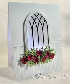 Gothic Arch Christmas Window by kittie747 - Cards and Paper Crafts at Splitcoaststampers