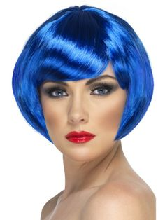 Womens Blue Bob Wig with Fringe by Smiffys : Cosmetics4uOnline.co.uk: HOME > FANCY DRESS > FANCY DRESS WIGS > WOMENS WIGS: Womens Blue Bob Wig with Fringe by Smiffys : Shop Now and Buy Online with UK Next Working Day Delivery Available at the checkout #fancydresswigswomens