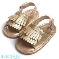 meisjes babyschoentjes babyslofjes baby sandaaltjes sandalen gold goud