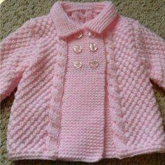 Para niña Baby Cardigan Knitting Pattern Free, Baby Boy Knitting Patterns, Baby Sweater Patterns, Knit Baby Sweaters, Baby Knitting, Knitted Baby, Knit Baby Dress, Knit Baby Booties, Dress Vest