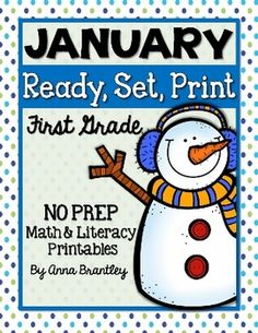 Looking for quick, easy, and engaging math and literacy activities for your students? These 30+ January themed printables will save you a lot of time because they require no prep. Just click, print, and you're ready to go!  These activities are great for Common Core and can be used in a variety of ways- morning work, math or literacy stations, homework, etc!