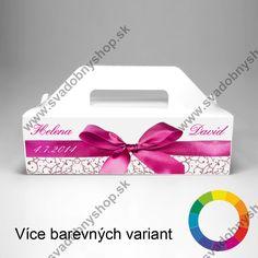 Krabice na výslužku s potiskem MAŠLE (1 ks) - Krabice na výslužku - Svadobné dekorácie - Svadobná výzdoba