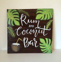 Wedding Bar Sign, Beach Wedding, Destination Wedding, Drink Menu Sign, Wood Wedding Sign , Wooden Sign, Handpainted Wedding Sign,