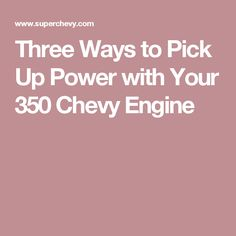 8 Best 350 CSB upgrades images in 2017 | Engine, Cars, Chevy 350 engine