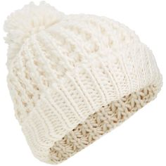 c3a89b90420 Accessorize Hoxton Super Pom Beanie Hat ( 33) ❤ liked on Polyvore featuring  accessories