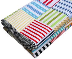 This beautiful bright quilt would look great in a little boy's room!