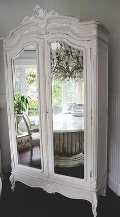 Antique French Armoire with Roses c1920 #interiordesign #interior #decor #furniture #armoire