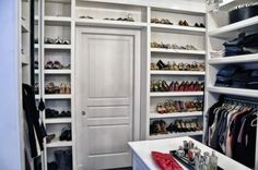 Taking your storage up above the door is a smart solution we can all turn to, now matter how small the closet.