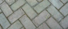 "Laundry Room Floors! ""brick"" concrete pavers, gray, herringbone pattern"