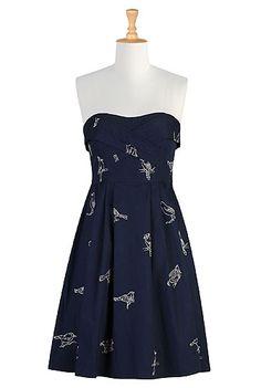 I <3 this Night bird strapless dress from eShakti