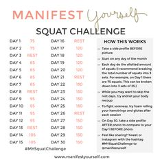 MY 30 Day Squat Challenge - Manifest Yourself