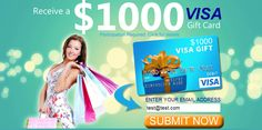 check this video https://www.youtube.com/watch?v=fLlPq0tclIc to know how can you get a visa gift card loaded with $1000. This offer is for USA guys only.   I know you may have doubts of it. But This is real offer, You can get yours by only submitting your email, and then enter where you want your Visa gift card to be sent. You will receive your gift in a short time of period. I have so many friends who already got their visa gift card which is loaded of $1000. Get yours now, before it gone
