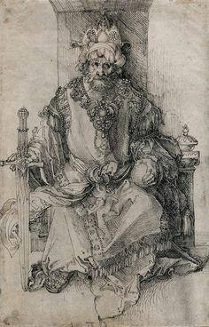 Albrecht Dürer, German, An Oriental Ruler Seated on His Throne, Pen and black ink on laid paper: x cm. National Gallery of Art, Washington D. Renaissance Kunst, Renaissance Artists, Albrecht Dürer, Albrecht Durer Paintings, Mystique, National Gallery Of Art, Wow Art, Italian Artist, Medieval Art