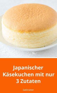Cheesecake japonês com apenas 3 ingredientes - Kuchen, Torten, Backrezepte - Cake Recipes Without Oven, Cake Recipes From Scratch, Easy Cookie Recipes, Dessert Recipes, Lemon Desserts, Baking Recipes, Easy Recipes, Healthy Recipes, Easy Vanilla Cake Recipe