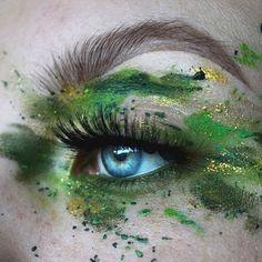Websta Makeupbyfayesarah - S W A M P : Makeupforeverirl Flash Color Palette Green And Gold : Kryolanofficial Aqua Colors Green And Gold : Inglotireland Gel Liner 90 Eye Makeup Designs, Eye Makeup Art, Fairy Makeup, Mermaid Makeup, Makeup Eyes, Beauty Makeup, Makeup Blog, Makeup Inspo, Makeup Inspiration