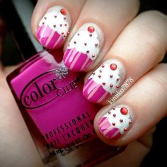 Do You Want To Have These Cute Cupcake Nail Arts? - http://www.stylishboard.com/want-cute-cupcake-nail-arts/