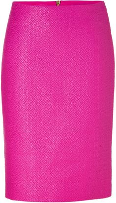 Versace Hot Pink Back Zip Pencil Skirt; bringing sexy back to an office near you ;) (a favourite repin of VIP Fashion Australia - providing a portal to exclusive fashion au and style from across the globe.  www.vipfashionaustralia.com - Specialising in blacklabel fashion - womens clothing Australia - global fashion houses - Italian fashion and fashion boutiques )