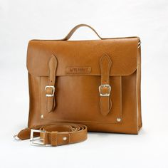 HANDMADE LEATHER BRIEFCASE/leather work bag/bags and by ElMato