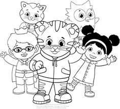 printable daniel tiger coloring pages | Free Printable Daniel The Tiger Coloring Pages for Kids ...
