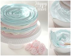 Pastel Easter Cake-multi- layered Meringues with fillings. Baby shower idea too