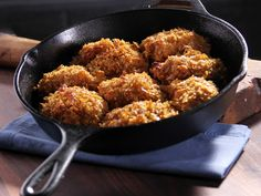 Unfried Chicken Recipe : Bobby Deen : Food Network - FoodNetwork.com this is definitely better, but a couple ways I see to reduce fat even further. And carbs too.