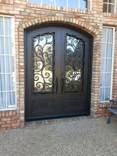 Grand entry door Elegant Iron Doors Pinterest Doors Villas