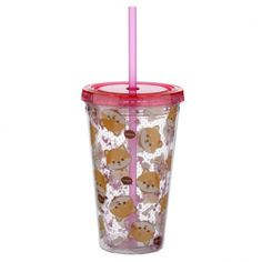 Fun for all the family at home, work or on holiday, our new range of reusable double walled cups keep cold drinks cold. Printed with fun designs they are colourful and practical and come with a lid and reusable straw. Each cup holds 500ml. Our double walled cups keep cold drinks cooler for longer and are not suitable for use with hot liquids. The straw is not recommended for children under 5. Dimensions: Height 16cm Width 10cm Depth 10cm Straw 23cm (approx 6 x 4 x 4 inches; straw 9 inches) Reusable Cup, Funky Design, Shiba Inu, Cold Drinks, Cool Designs, Cups, Wall, Dog, Children