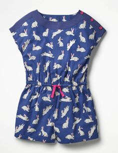 Discover our standout range of girls' dresses at Boden. Choose from comfy jersey styles for every day to extra-special party dresses for ages 0 to 16 years. Girls Rompers, Girls Dresses, Blue Bunny, Mini Boden, Playsuits, Stripe Print, Kids Outfits, Printed, Bunnies