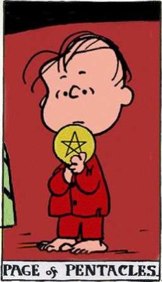 Peanuts Tarot: Page of Pentacles