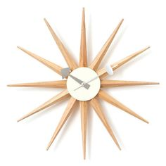 Rakuten: George Nelson sunburst clock is natural- Shopping Japanese products from Japan