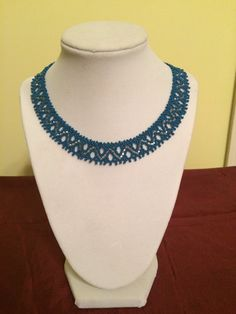 Beautiful Handmade Beaded Necklace with wave by LovelyNecklaces