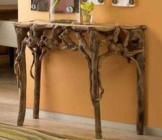 root furniture - I love this look and it brings to mind how amazing the 'root' look would be as headboard and footboard detailings...