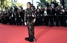 A rose upon the red carpet: Kendall's stunning good looks made her a focal point of the event