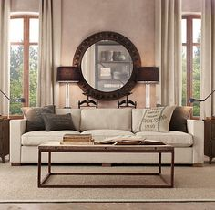 restoration hardware brickmakers coffee table