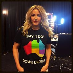 """elliesjoy: """"Ellie Goulding joins the """"Say 'I Do' Down Under"""" Campaign! Ellie Goulding, Love Me Like, Love Her, Fair Day, Birthday Dates, T Shirt Photo, Gorgeous Blonde, Lgbt Community, Extended Play"""