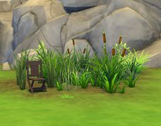 The Sims 4 | plasticbox Liberated Grass/Reeds Unlocked Base Game Build Mode Garden