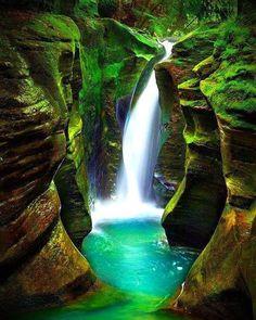 Corkscrew Falls,Hocking Hills State Park, Ohio, USA.