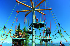 Swings at the Ghost Mountain - Theme park