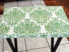 tv tray to portable craft table