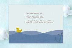 Ahoy Ducky Baby Shower Invitations by nocciola design at minted.com