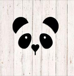 Panda Decal Panda Bear Sticker Car Decal Laptop Decal