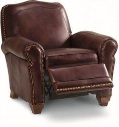 Lazy Boy Recliner Prices | Faris Low Profile Lazy Boy Leather Recliner by La-Z-Boy Furniture