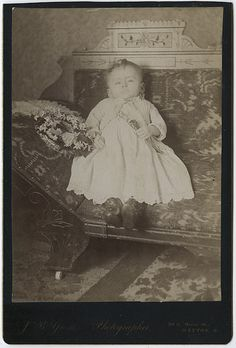 Postmortem Portrait of a Young Child