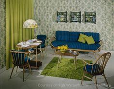 Ercol Windsor Bergere bed-sitting room set 1970-79