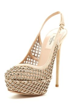 Valentino Embellished Pump - one of the most beautiful shoes I've seen in a while! Good god!