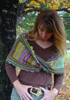 Lovely colors.  Great stash buster, if you use a russian join to keep shawl reversible ---or use some lovely self striping Noro, etc.